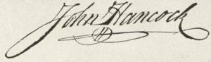 Image of John Hancock's signature.