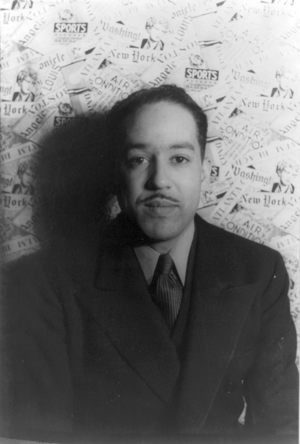 Photo of Langston Hughes.