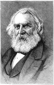 Portrait of Henry Wadsworth Longfellow.