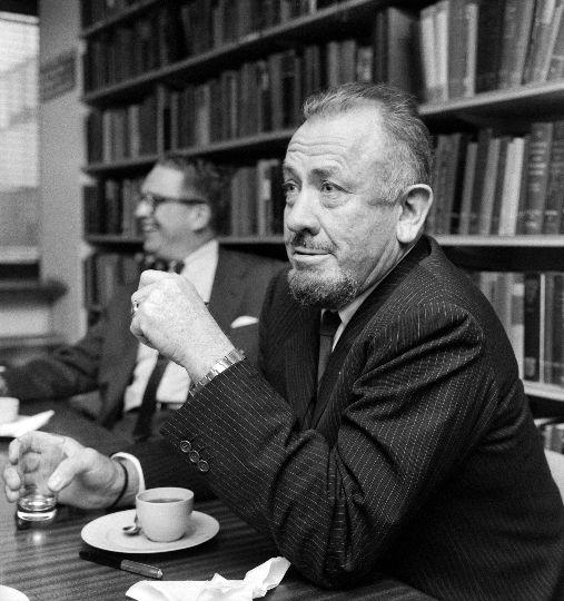 Photo of John Steinbeck.