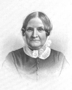 Engraving of Lydia Maria Child.