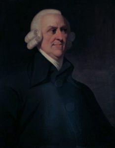 Portrait of Adam Smith.