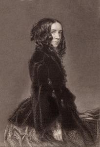 Engraving of Elizabeth Barrett Browning.