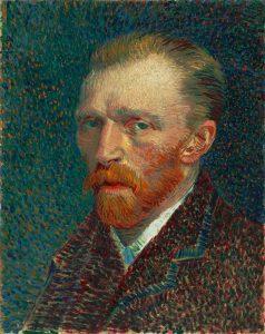 Self portrait of Vincent van Gogh.