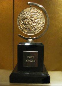 Photo of a Tony Award.