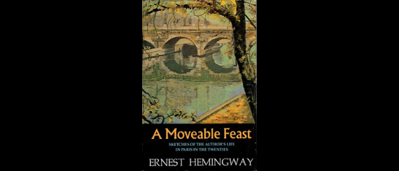 Cover of the first edition of A Moveable Feast.