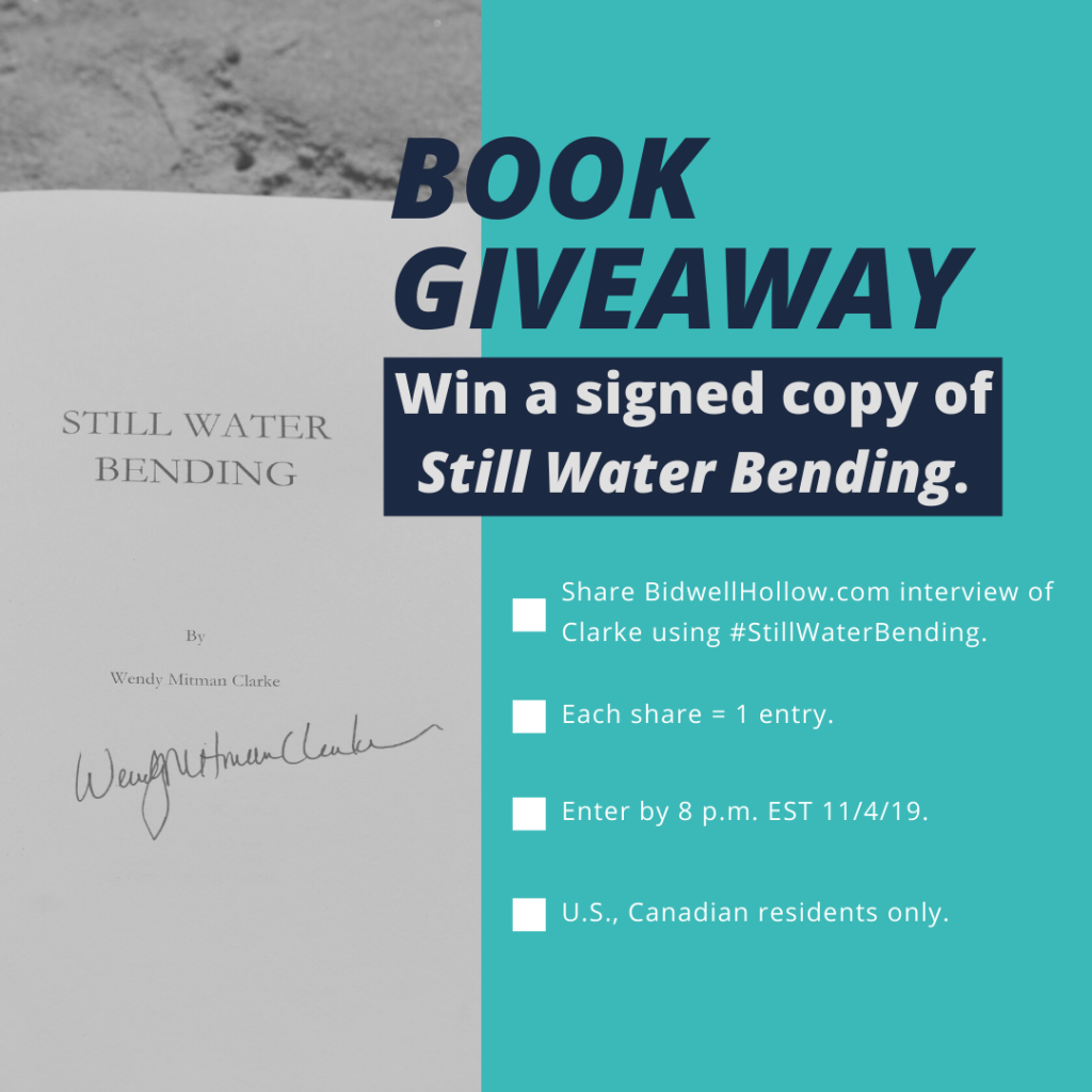 Details about the Still Water Bending book giveaway.